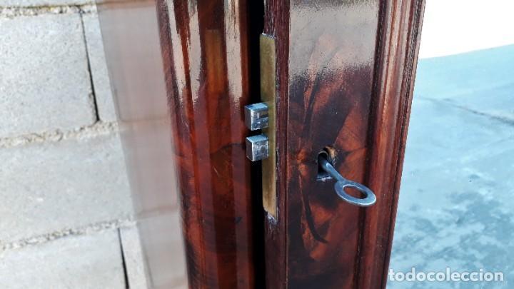 Antigüedades: Armario antiguo estilo Luis Felipe. Pequeño estrecho armario con espejo. - Foto 9 - 190836530