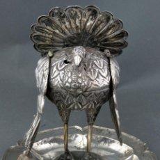 Antigüedades: SAHUMADOR COLONIAL EN PLATA EN FORMA DE PAVO PERÚ SIGLO XVIII. Lote 190836830