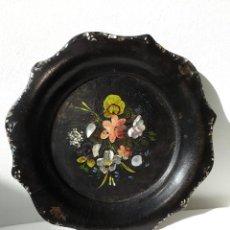 Antigüedades: BANDEJA DE PAPEL MACHÉ ÉPOCA VICTORIANA. Lote 190844182
