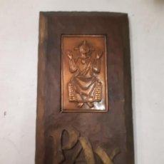 Antigüedades: METAL Y MADERA. PAX. JESUS. OBRA DE FRANCESC GASSO. UNA OBRA DE ARTE EN TU CASA. Lote 190844292
