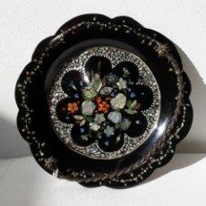 Antigüedades: BOMBONERA VICTORIANA DE PAPEL MACHÉ. Lote 190844622