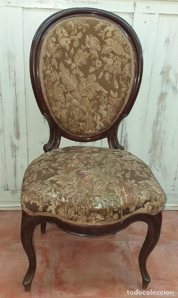 SILLA ISABELINA DE CAOBA SIGLO XIX (Antigüedades - Muebles Antiguos - Sillas Antiguas)