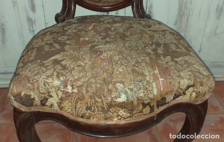Antigüedades: SILLA ISABELINA DE CAOBA SIGLO XIX - Foto 4 - 190844897