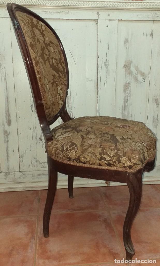 Antigüedades: SILLA ISABELINA DE CAOBA SIGLO XIX - Foto 5 - 190844897