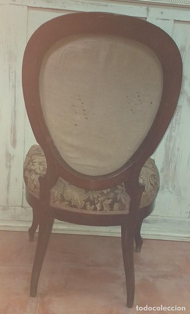 Antigüedades: SILLA ISABELINA DE CAOBA SIGLO XIX - Foto 6 - 190844897