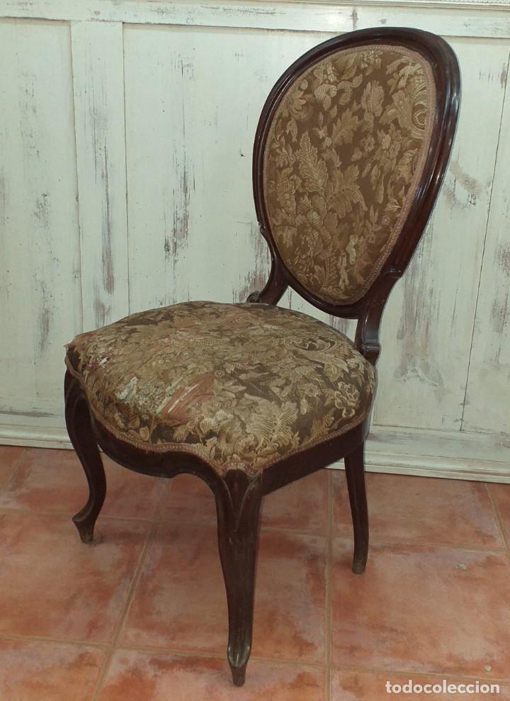 Antigüedades: SILLA ISABELINA DE CAOBA SIGLO XIX - Foto 8 - 190844897