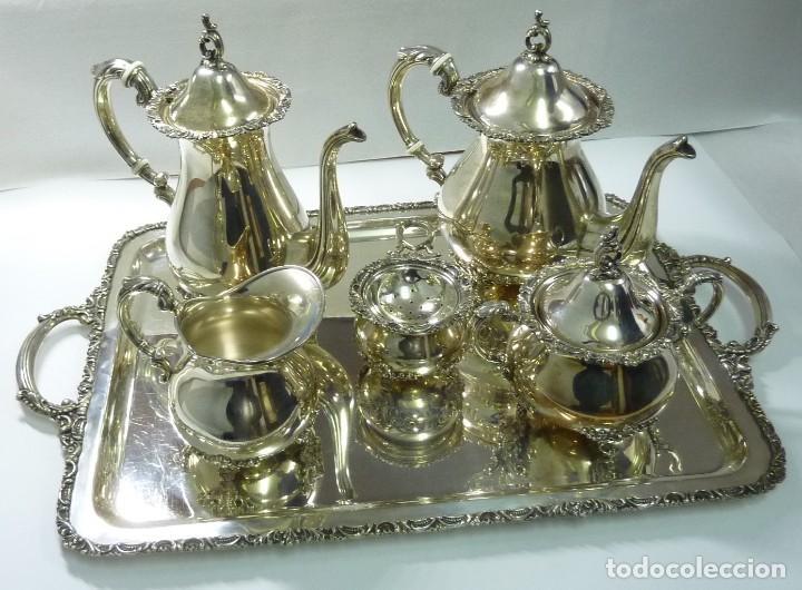 JUEGO DE CAFÉ EN PLATA DE PRIMERA LEY (Antigüedades - Platería - Plata de Ley Antigua)
