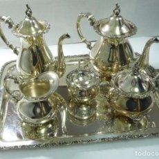 Antigüedades: JUEGO DE CAFÉ EN PLATA DE PRIMERA LEY. Lote 190847737