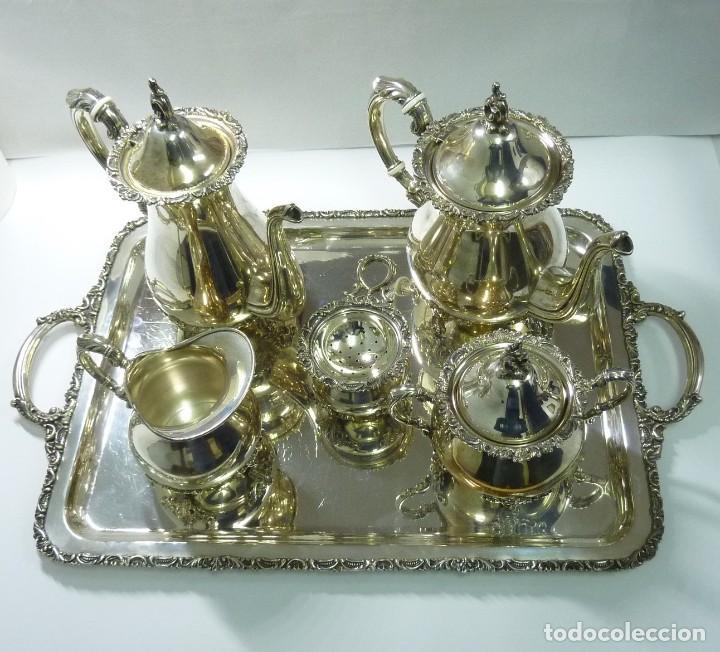 Antigüedades: Juego de café en plata de primera ley - Foto 2 - 190847737