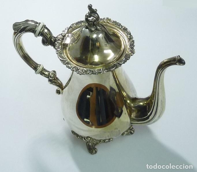 Antigüedades: Juego de café en plata de primera ley - Foto 7 - 190847737