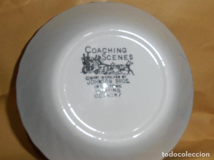 Antigüedades: CUENCO DE PORCELANA JOHNSON BROS COACHING SCENES - AZUL - Foto 5 - 190868391