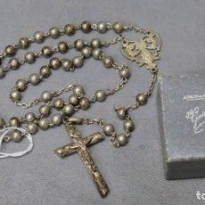 Antigüedades: ANTIGUO ROSARIO DE PLATA. ZARAGOZA. Lote 190874418