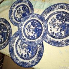 Antiquités: 5 PLATOS EN PORCELANA EIT ENGLAND. Lote 190881242
