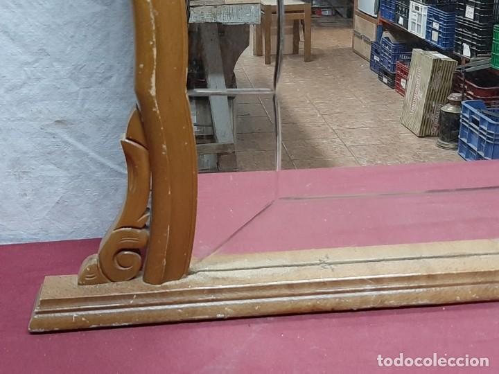 Antigüedades: ESPEJO CON CRISTAL LABRADO... MED XX - Foto 2 - 190884970