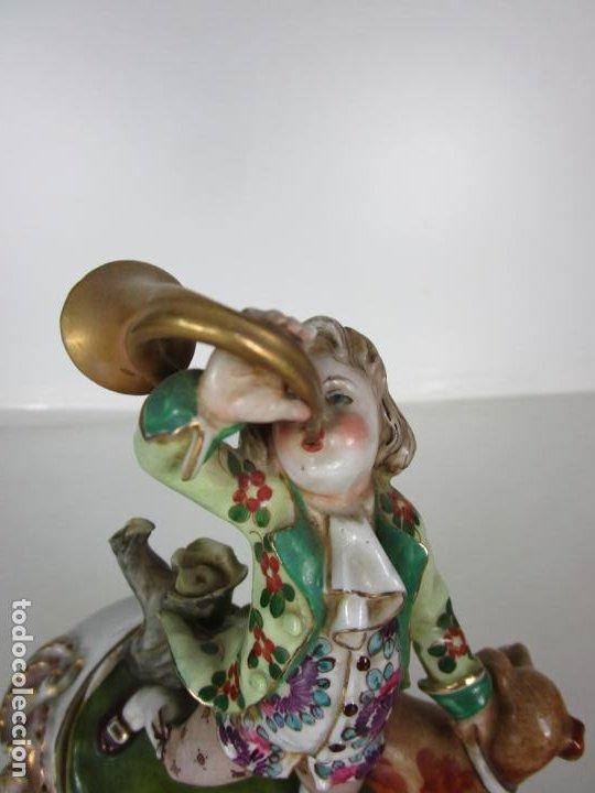 Antigüedades: Figura de Porcelana - Cazador con Perro - Sello CH Hispania - Porcelana Manises - Foto 6 - 190895471