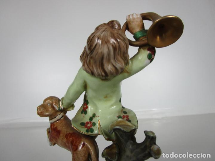 Antigüedades: Figura de Porcelana - Cazador con Perro - Sello CH Hispania - Porcelana Manises - Foto 12 - 190895471