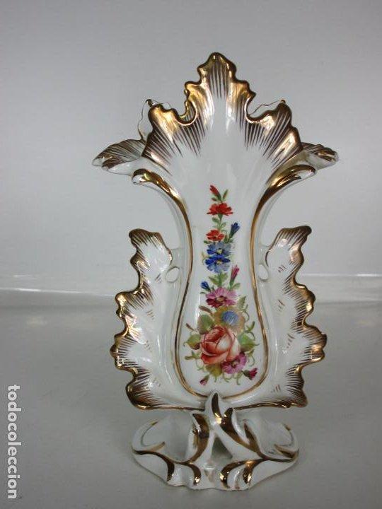 PRECIOSO JARRÓN ESTILO ISABELINO - PORCELANA VIEJO PARÍS, FRANCIA - S. XIX (Antigüedades - Porcelana y Cerámica - Francesa - Limoges)