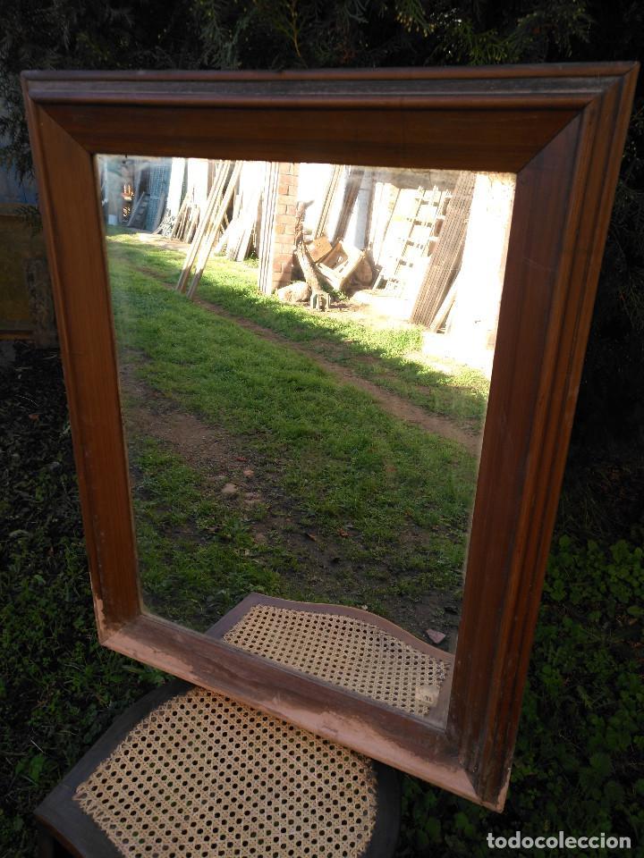 Antigüedades: Espejo antiguo caoba - Foto 4 - 190906405
