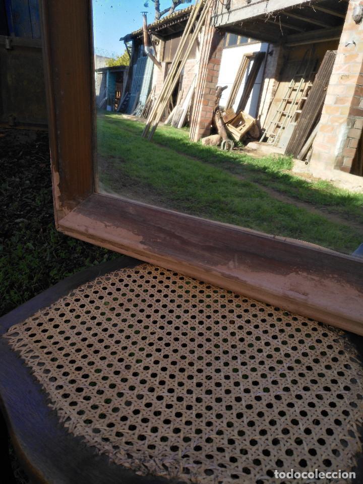Antigüedades: Espejo antiguo caoba - Foto 6 - 190906405