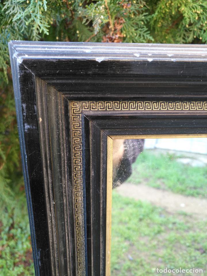 Antigüedades: Espejo negro con dorado. - Foto 2 - 190907947