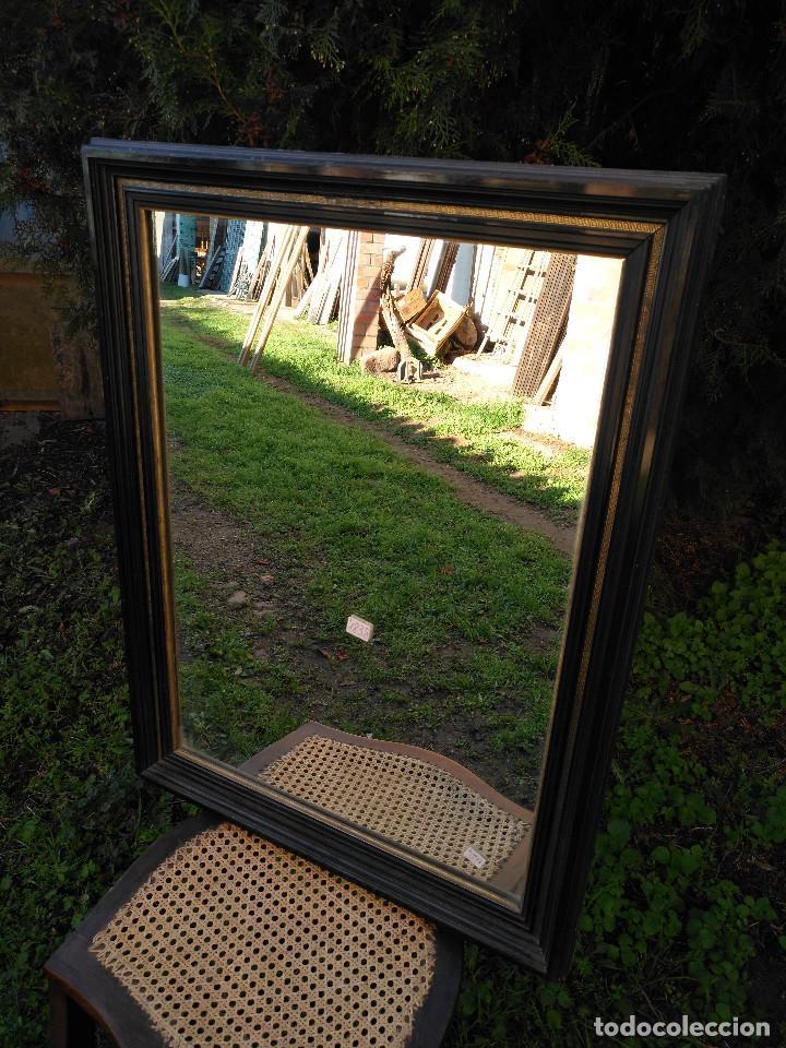 Antigüedades: Espejo negro con dorado. - Foto 3 - 190907947