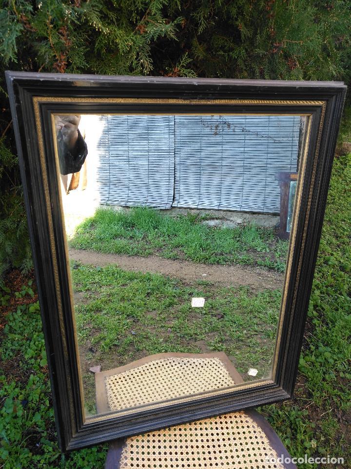 Antigüedades: Espejo negro con dorado. - Foto 4 - 190907947