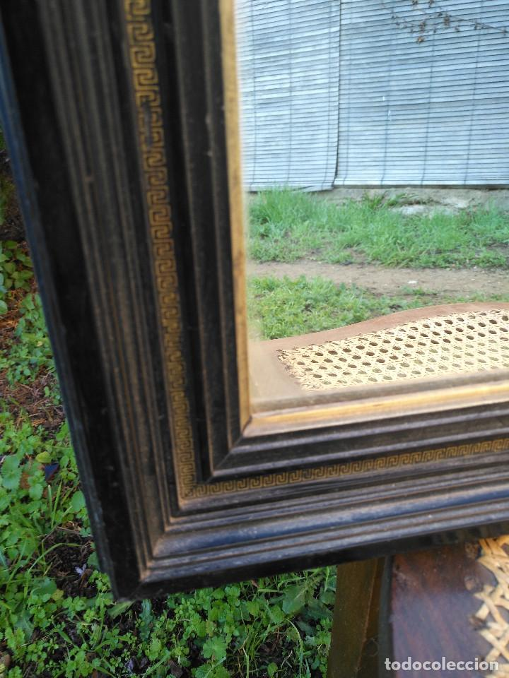 Antigüedades: Espejo negro con dorado. - Foto 5 - 190907947