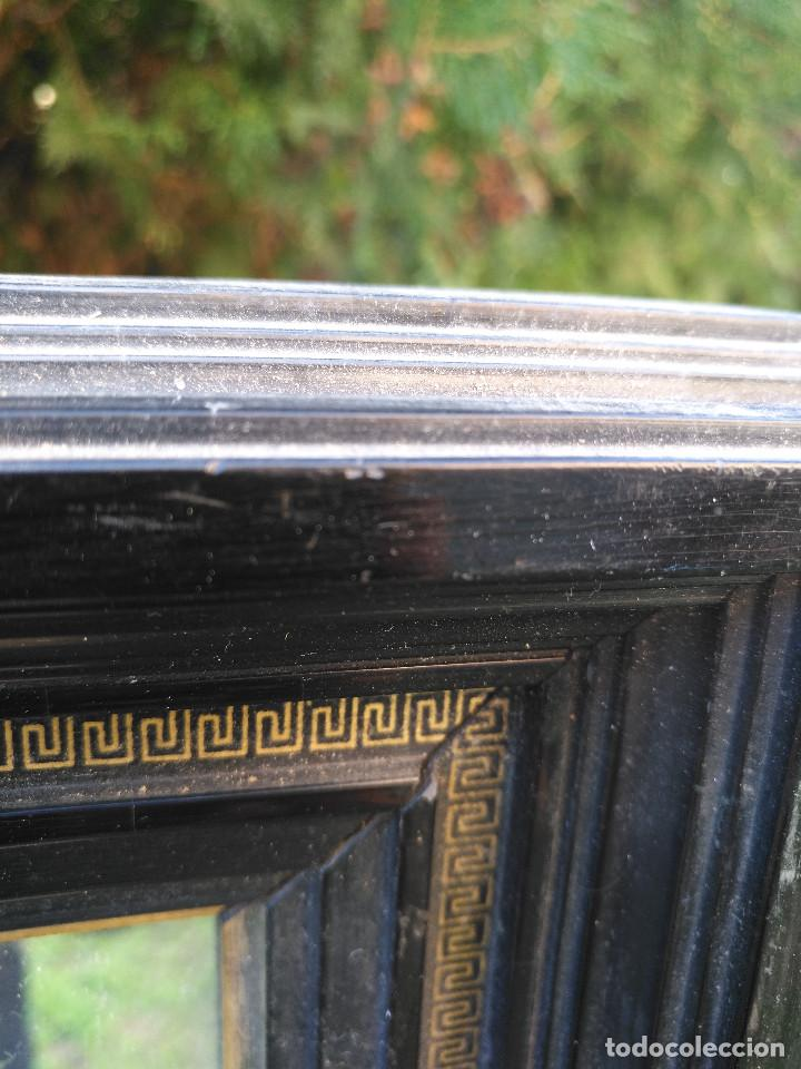 Antigüedades: Espejo negro con dorado. - Foto 6 - 190907947