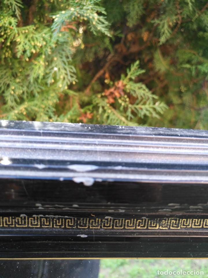 Antigüedades: Espejo negro con dorado. - Foto 7 - 190907947