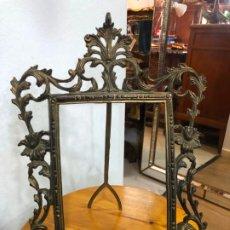 Oggetti Antichi: ANTIGUO MARCO DE BRONCE - MEDIDA TOTAL 36X26 CM E INTERIOR 20X14 CM. Lote 190918827