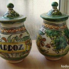 Antigüedades: BOTES / TARROS PARA COCINA - CERÁMICA PUENTE DEL ARZOBISPO. Lote 190920355