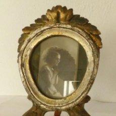 Antigüedades: ESPEJO DE MADERA EPOCA CARLOS IV - DORADO Y PLATEADO.. Lote 190927616