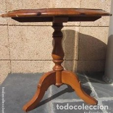 Antigüedades: MESITA DE MADERA CIRCULAR. Lote 190935653