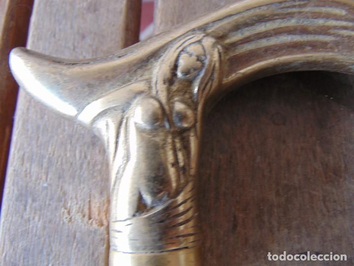 Antigüedades: MANGO DE BASTÓN MODERNISTA CON MUJER DESNUDA EROTICO EN BRONCE - Foto 2 - 190976638