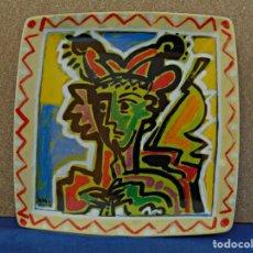 Antigüedades: PLATO DE PORCELANA DECORADA N 1275 POR EL PINTOR GALLEGO JOSE MARIA BARREIRO.. Lote 190986822