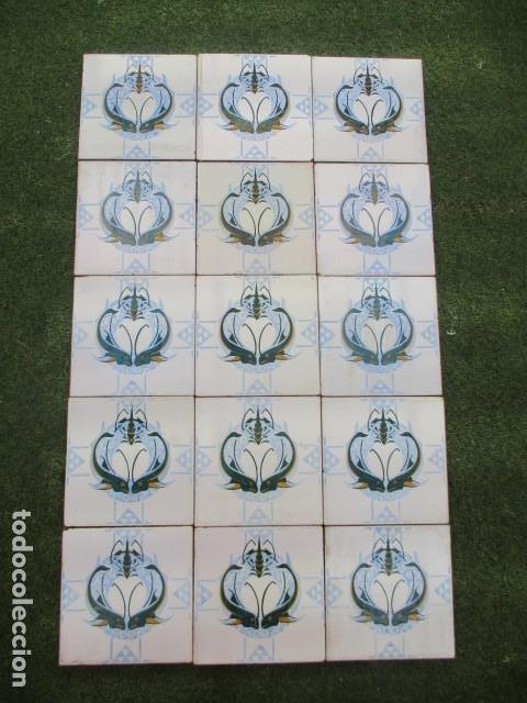 PANEL DE AZULEJOS MODERNISTAS VALENCIA (Antigüedades - Porcelanas y Cerámicas - Azulejos)