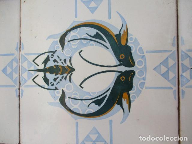 Antigüedades: Panel de azulejos Modernistas Valencia - Foto 2 - 191004478
