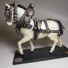Antigüedades: CABALLO TIRO- MAQUETA A ESCALA, GUARNICIONES, ARREOS O JAECES J.BORRELL MONTBRIO CAMP-TRES TOMBS. Lote 191007325