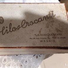 Antigüedades: CAJA HILOS BROCANTI MADRID. Lote 191009800