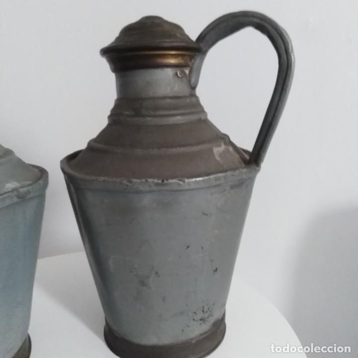 Antigüedades: Antiguos Cántaros de leche. siglo xix - Foto 2 - 191019366