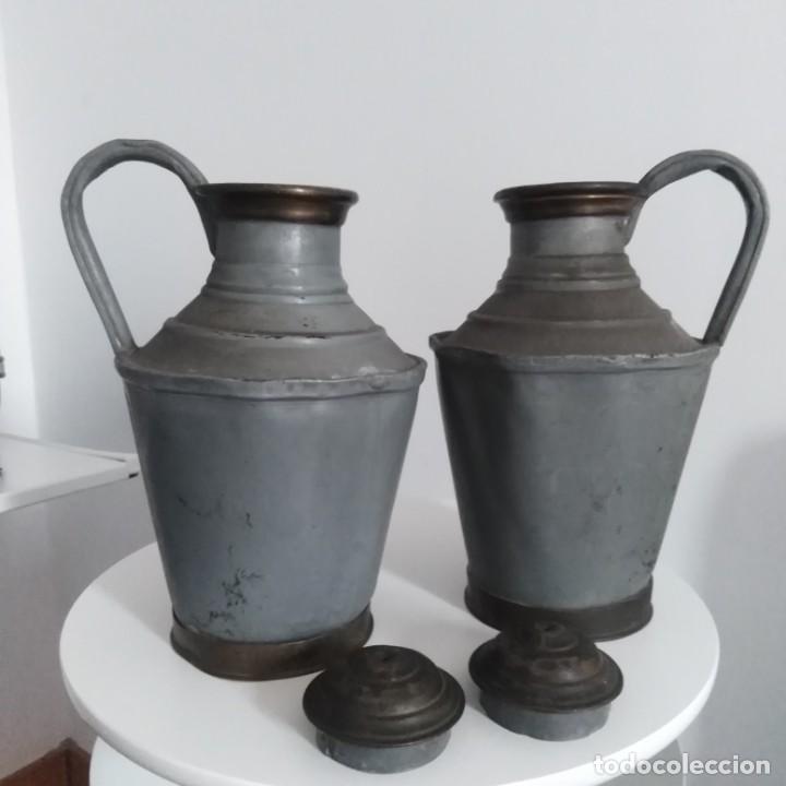 Antigüedades: Antiguos Cántaros de leche. siglo xix - Foto 7 - 191019366