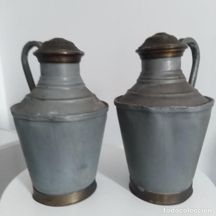 Antigüedades: Antiguos Cántaros de leche. siglo xix - Foto 8 - 191019366