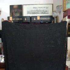 Antigüedades: MANTON DE MANILA NEGRO SEDA NATURAL ANTIGUO. Lote 191033067