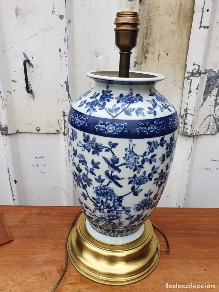 Antigüedades: Lámpara de porcelana del ritz - Foto 2 - 191034098