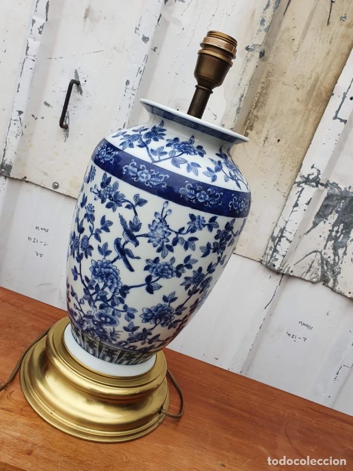 Antigüedades: Lámpara de porcelana del ritz - Foto 3 - 191034098