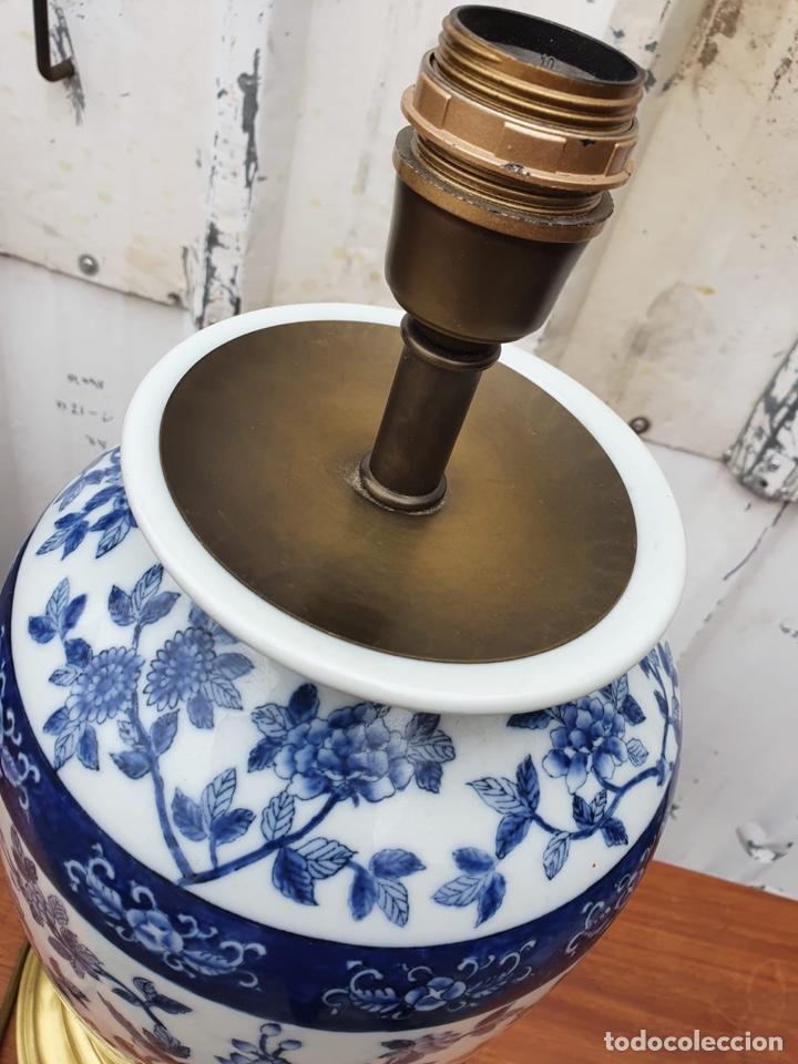 Antigüedades: Lámpara de porcelana del ritz - Foto 6 - 191034098