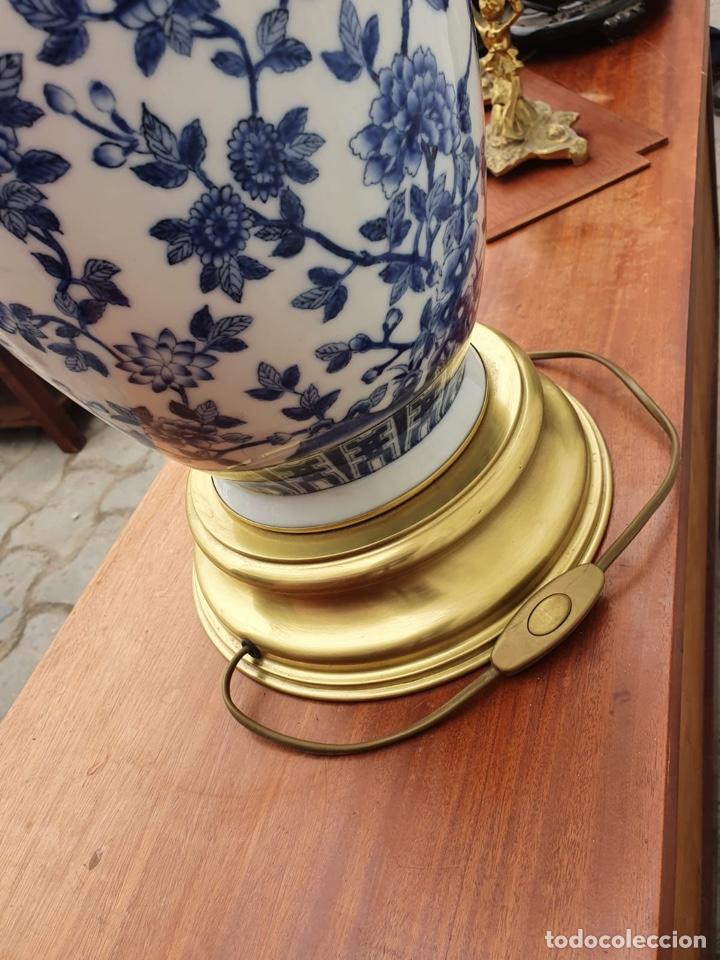 Antigüedades: Lámpara de porcelana del ritz - Foto 7 - 191034098