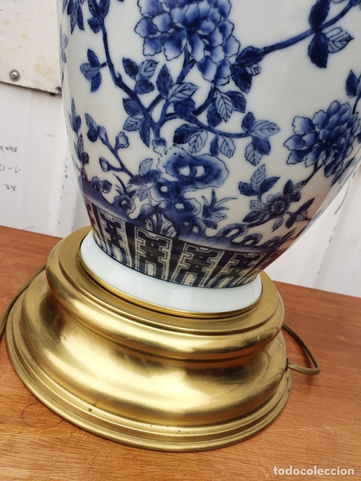 Antigüedades: Lámpara de porcelana del ritz - Foto 9 - 191034098