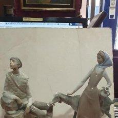 Antigüedades: PAREJA DE CABREROS DE LLADRO CON FALTAS.. Lote 191058457