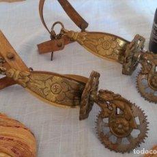 Antigüedades: ESPUELAS EN BRONCE. PAREJA.. Lote 191065072